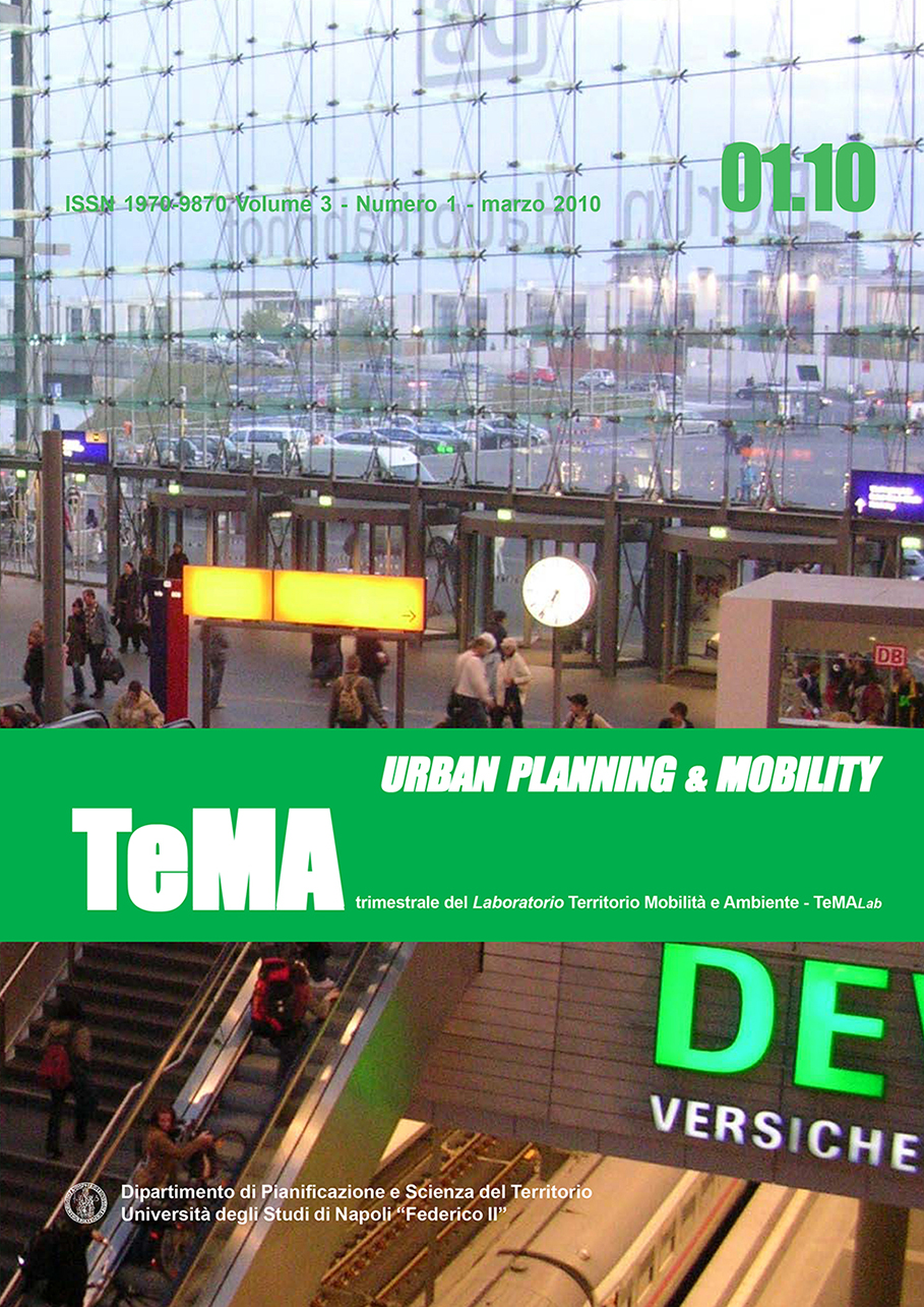 10_Vol 3, N° 1 (2010): Urban Planning and Mobility